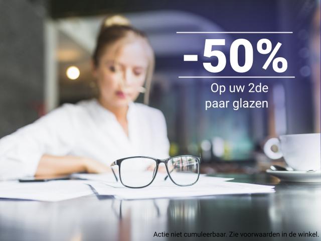 50% 2de paar brillenglazen