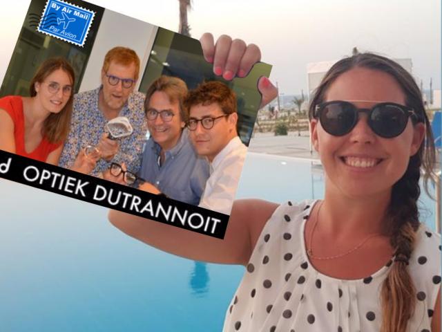 Teamfoto, Optiek Dutrannoit, Augustus, Vakantie, Zomervakantie, Zonnebril, Open tijdens vakantie