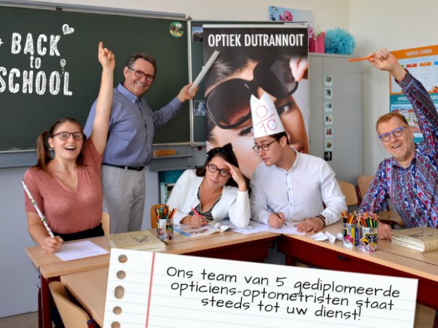 September, Back to school, Start schooljaar, september 2018, opticiens, Optiek Dutrannoit